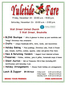 Yuletide Fare @ Wall Street United Church
